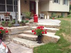 Patio Walkway. Natural Stone