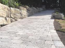 Retaining Walls and Interlocking Stone Driveway